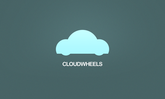 Cloud Wheels Mobile App Logo Design
