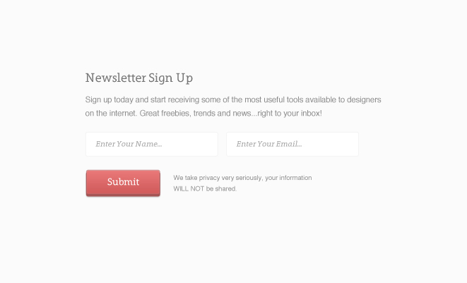 Nifty Little Email Signup