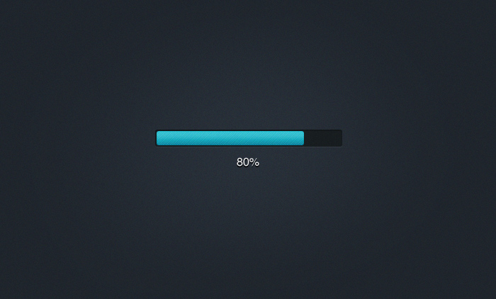 Simple Compact Progress Bar PSD