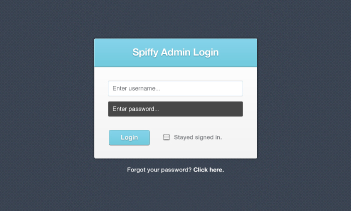 Spiffy Little Login Form PSD