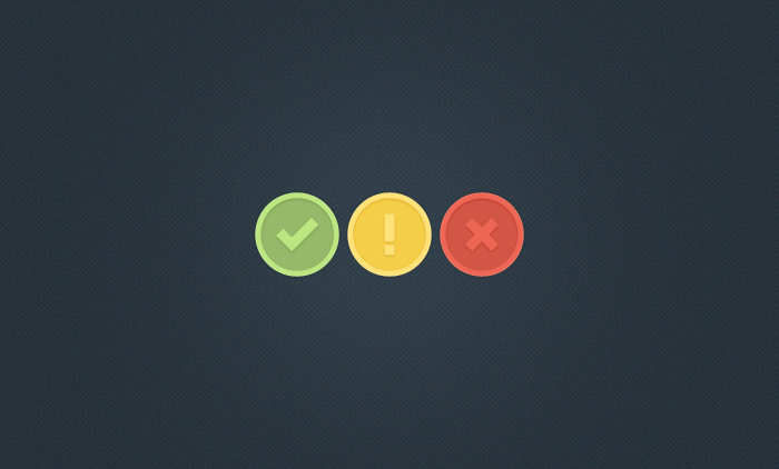 Lovely Inset Notification Icons PSD