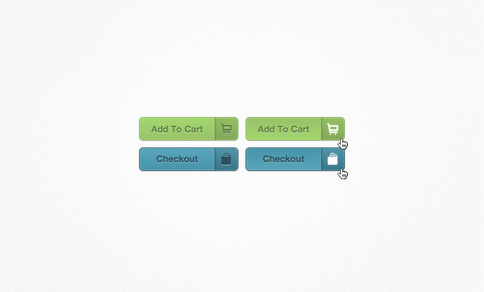 E-Commerce Buttons with Icons PSD