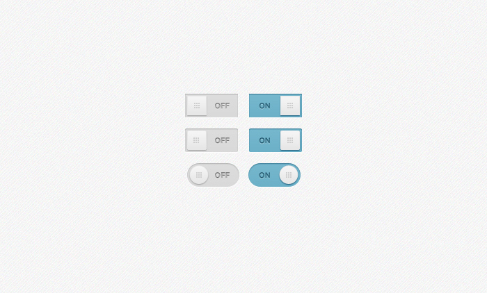 Simple Inset Toggles PSD